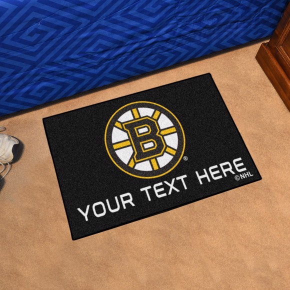 Picture of Boston Bruins Personalized Starter Mat