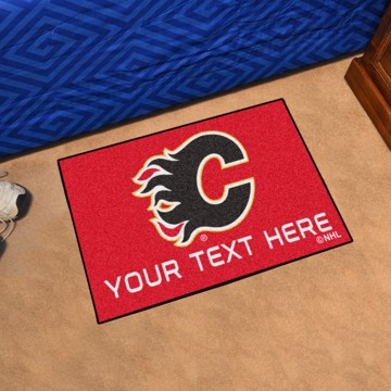 Picture of Calgary Flames Personalized Accent Rug