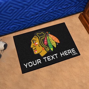 Picture of Chicago Blackhawks Personalized Accent Rug