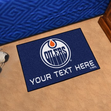 Picture of Edmonton Oilers Personalized Starter Mat