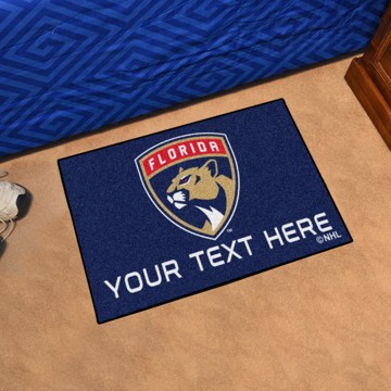 Picture of Florida Panthers Personalized Starter Mat