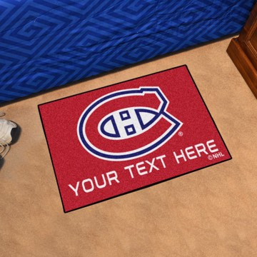 Picture of Montreal Canadiens Personalized Starter Mat