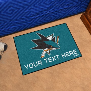 Picture of San Jose Sharks Personalized Starter Mat