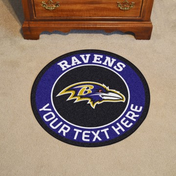 Picture of Baltimore Ravens Personalized Roundel Mat