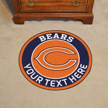 Picture of Chicago Bears Personalized Roundel Mat Rug