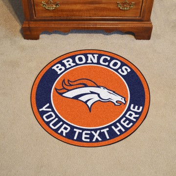 Picture of Denver Broncos Personalized Roundel Mat