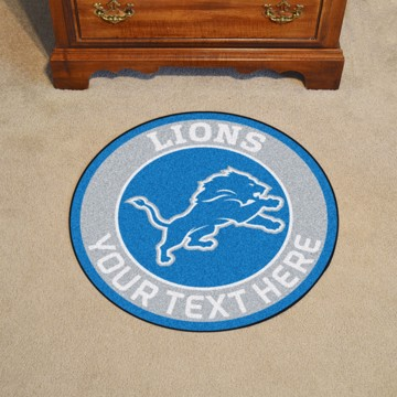 Picture of Detroit Lions Personalized Roundel Mat