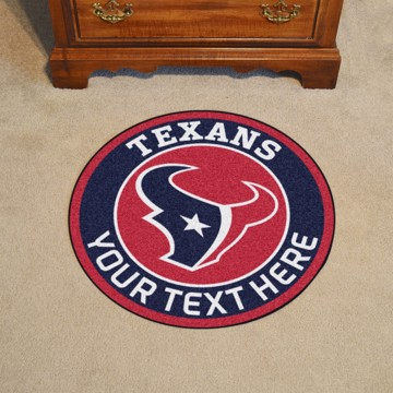 Picture of Houston Texans Personalized Roundel Mat