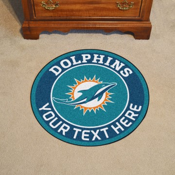 Picture of Miami Dolphins Personalized Roundel Mat