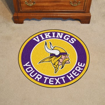 Picture of Minnesota Vikings Personalized Roundel Mat