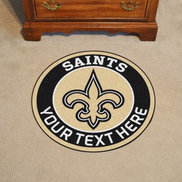 Picture of New Orleans Saints Personalized Roundel Mat