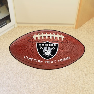 Picture of Oakland Raiders Personalized Football Mat