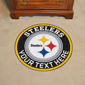 Picture of Pittsburgh Steelers Personalized Roundel Mat