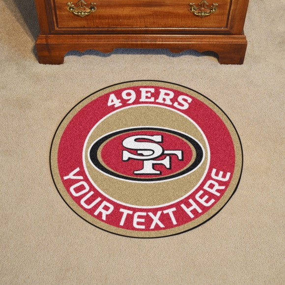 Picture of San Francisco 49ers Personalized Roundel Mat
