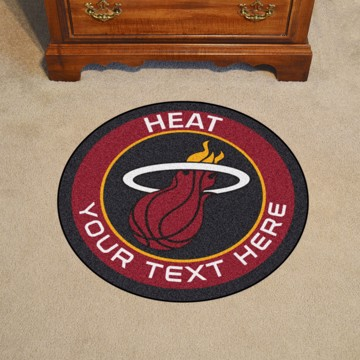 Picture of Miami Heat Personalized Roundel Mat