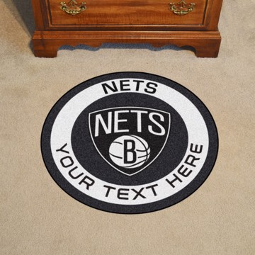 Picture of NBA - Brooklyn Nets Personalized Roundel Mat Rug