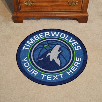 Picture of NBA - Minnesota Timberwolves Personalized Roundel Mat