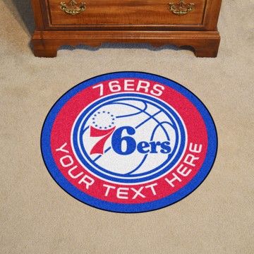 Picture of Philadelphia 76ers Personalized Roundel Mat
