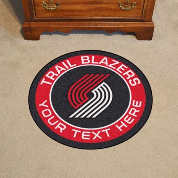 Picture of Portland Trail Blazers Personalized Roundel Mat