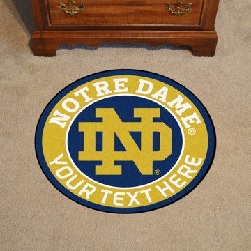 Picture of Personalized Notre Dame Roundel Mat