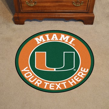 Picture of Personalized University of Miami Roundel Mat