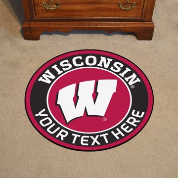 Picture of Personalized University of Wisconsin Roundel Mat