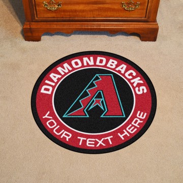Picture of Arizona Diamondbacks Personalized Roundel Mat Rug