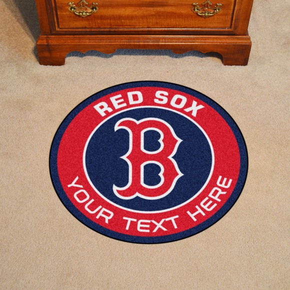 Picture of Boston Red Sox Personalized Roundel Mat Rug