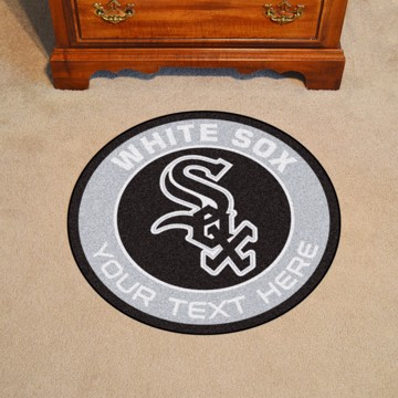 Picture of Chicago White Sox Personalized Roundel Mat Rug