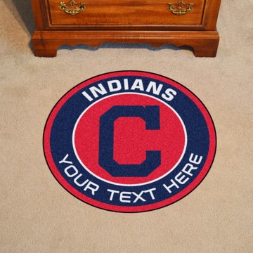 Picture of Cleveland Indians Personalized Roundel Mat Rug