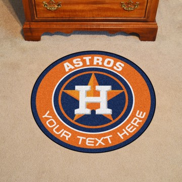 Picture of Houston Astros Personalized Roundel Mat