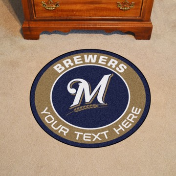 Picture of Milwaukee Brewers Personalized Roundel Mat