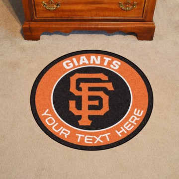 Picture of San Francisco Giants Personalized Roundel Mat