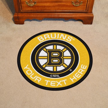 Picture of Boston Bruins Personalized Roundel Mat Rug