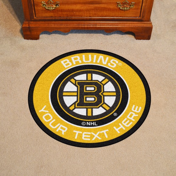 Picture of Boston Bruins Personalized Roundel Mat