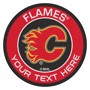 Picture of Calgary Flames Personalized Roundel Mat Rug