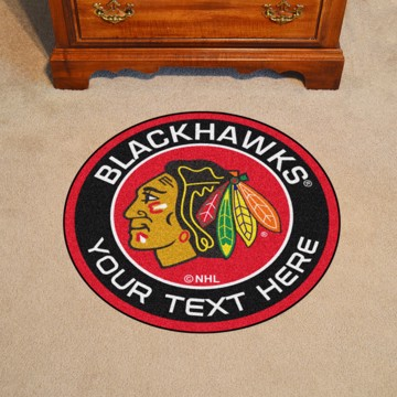 Picture of Chicago Blackhawks Personalized Roundel Mat Rug