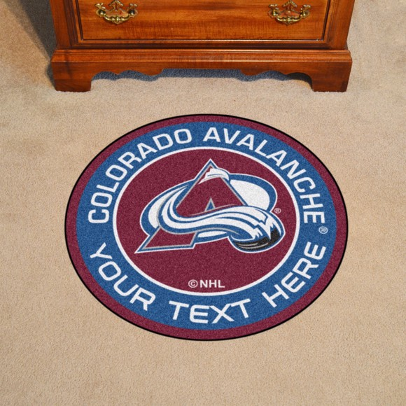 Picture of Colorado Avalanche Personalized Roundel Mat Rug