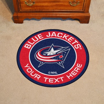 Picture of Columbus Blue Jackets Personalized Roundel Mat Rug