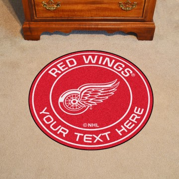 Picture of Detroit Red Wings Personalized Roundel Mat