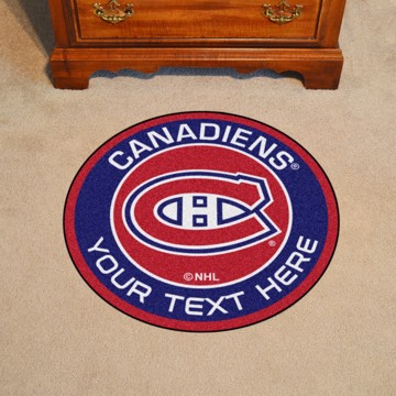 Picture of Montreal Canadiens Personalized Roundel Mat