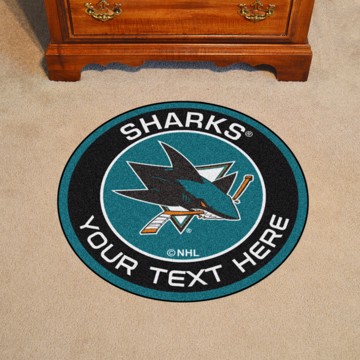 Picture of San Jose Sharks Personalized Roundel Mat