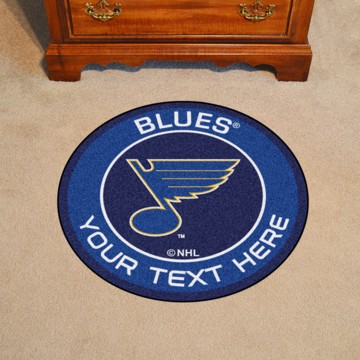 Picture of St. Louis Blues Personalized Roundel Mat