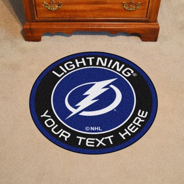 Picture of Tampa Bay Lightning Personalized Roundel Mat