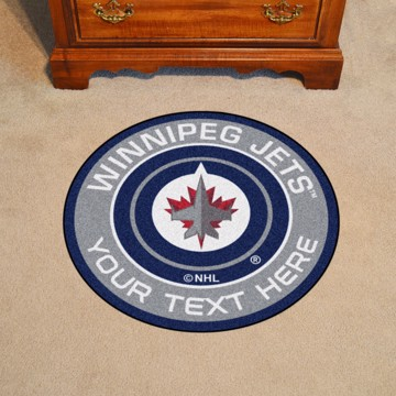 Picture of Winnipeg Jets Personalized Roundel Mat