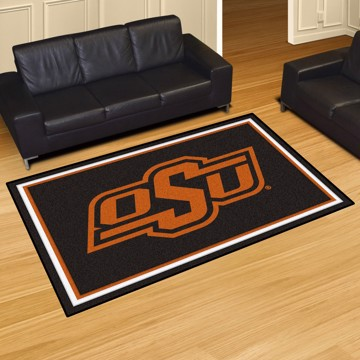 Picture of Oklahoma State 5'x8' Plush Rug