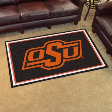 Picture of Oklahoma State 4'x6' Plush Rug