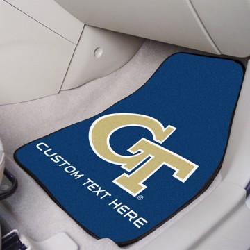 Picture of Georgia Tech Personalized Carpet Car Mat Set