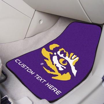 Picture of LSU Personalized Carpet Car Mat Set