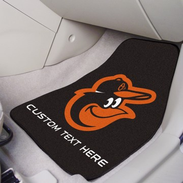 Picture of Baltimore Orioles Personalized Carpet Car Mat Set